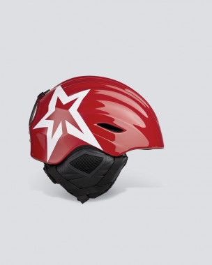 Unisex Mountain Mission Star Helmet Red