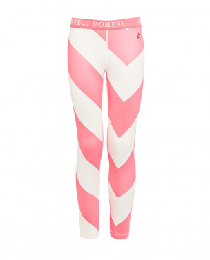 Kids Knitted Super Thermal Pants White Pink