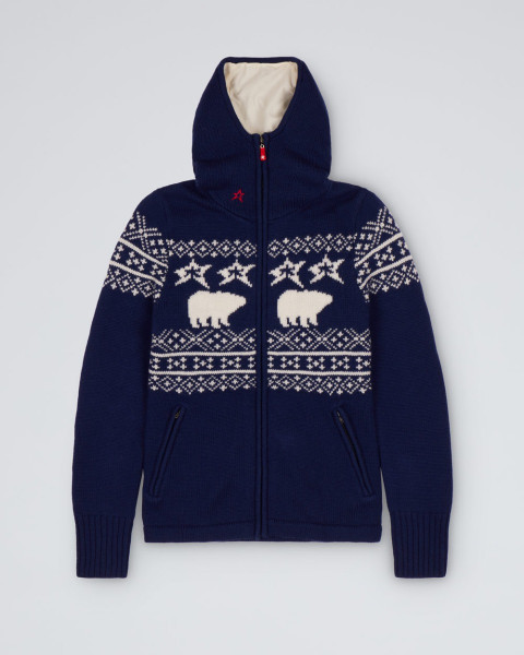 MENS HOODED SWEATER NAVY