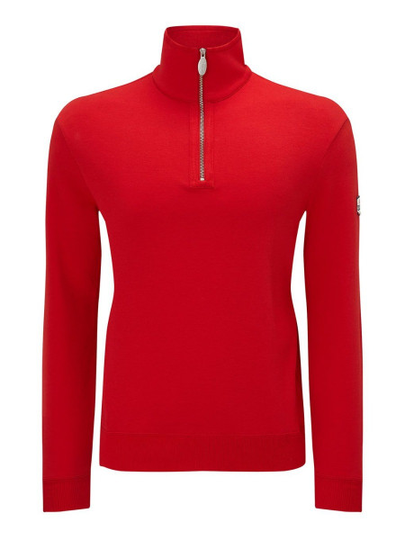 Men's Zip-Up Jersey Sweatshirt Red