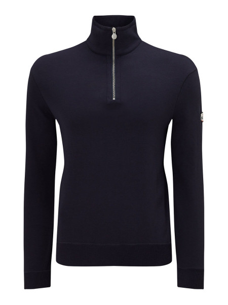 Men's Zip-Up Jersey Sweatshirt Navy
