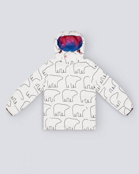 KIDS NANUK REVERSIBLE HALF-ZIP JACKET BEAR PRINT