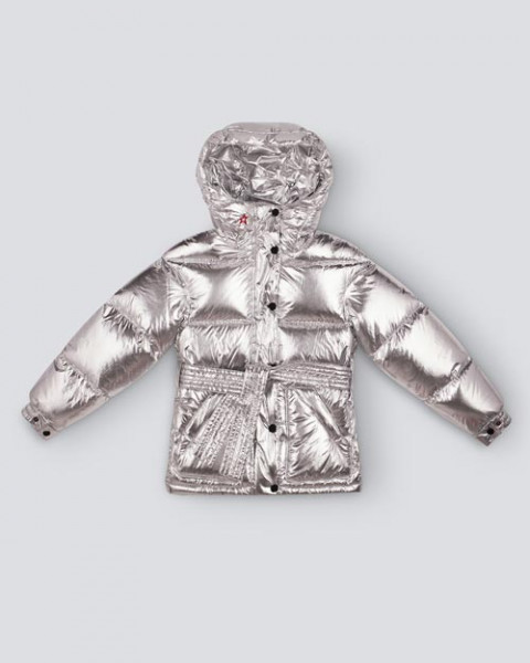 KIDS OVER SIZE PARKA SILVER FOIL
