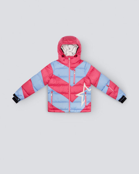 Kids Striped Super Mojo Jacket Pink Peach Alaska Blue