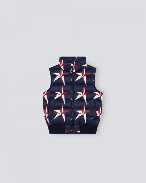 KIDS STAR ON STAR DOWN VEST NAVY