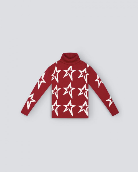 KIDS STAR DUST SWEATER RED