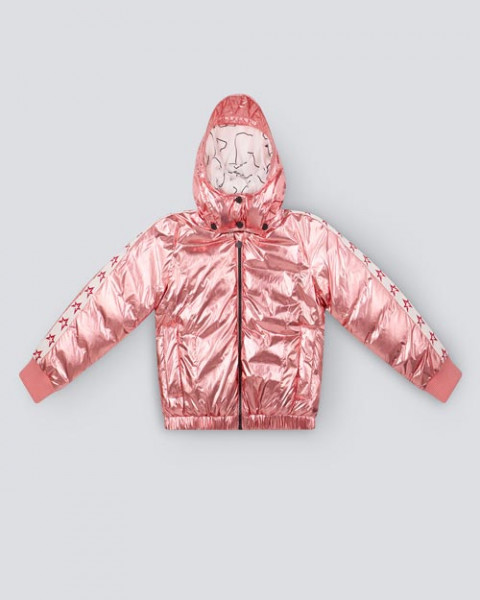 KIDS STAR JACKET PINK FOIL