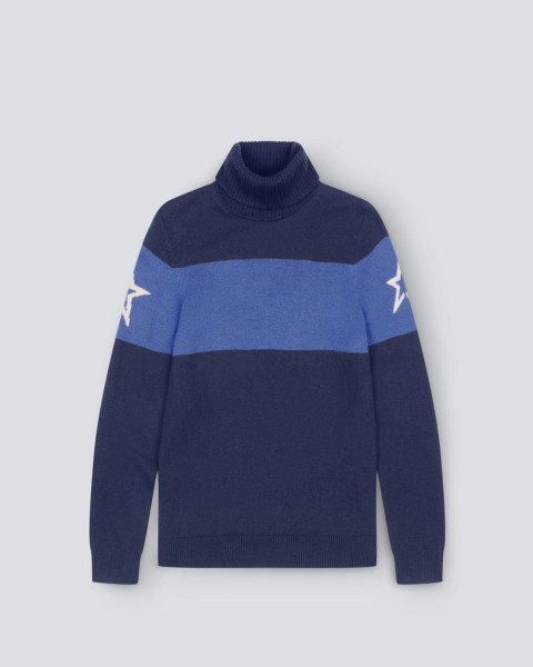 MENS PM TURTLE NECK SWEATER NAVY