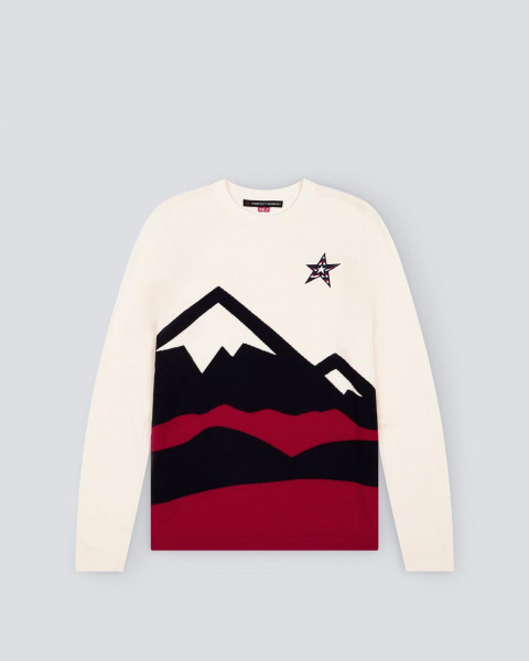 MENS MULTI MOUNTAIN SWEATER WHITE
