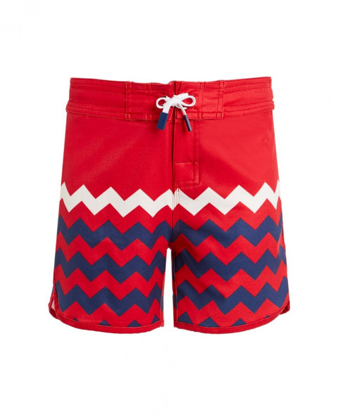 Kids' Zigzag Board Shorts Red