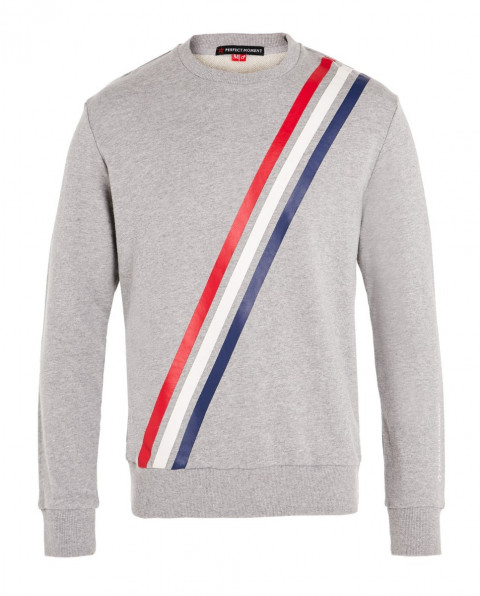Men's Striped Cotton-Jersey Sweatshirt Grey