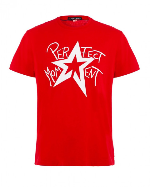 Men's Star-Print Cotton-Jersey T-Shirt Red