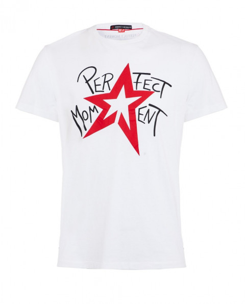 Men's Star-Print Cotton-Jersey T-Shirt White