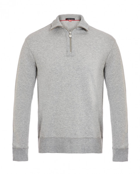 Men's Zip-Up Jersey Sweatshirt Grey