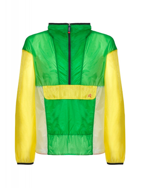 Mens Light Weight Packable Woven Jacket Green