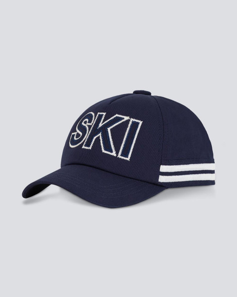 PM SKI CAP NAVY WHITE