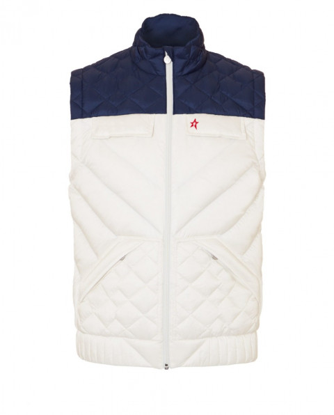 Mens Padded Apres Gilet Snow White