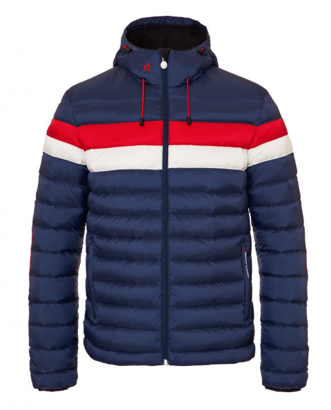 Mens Hooded Pirtuk Jacket Navy