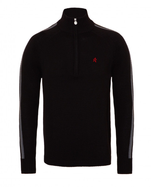 Mens Merino Wool La Tour IV Sweater Black