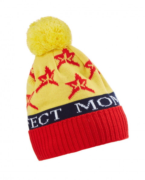 Unisex Wool blend PM Star Beanie Hat Citron