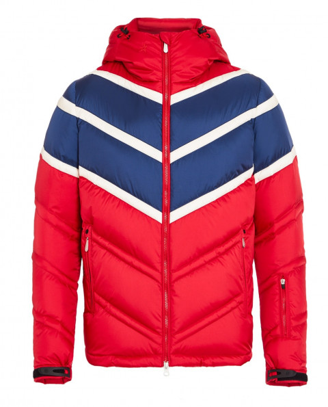 Mens Chevron Super Day Jacket Red
