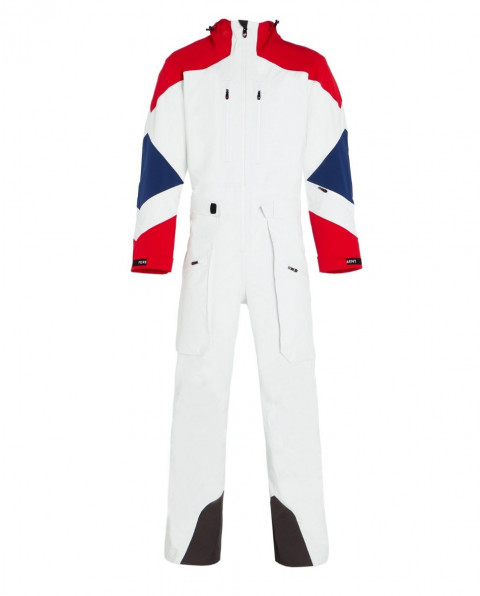 Men's Heli 3 Layer Ski Suit White
