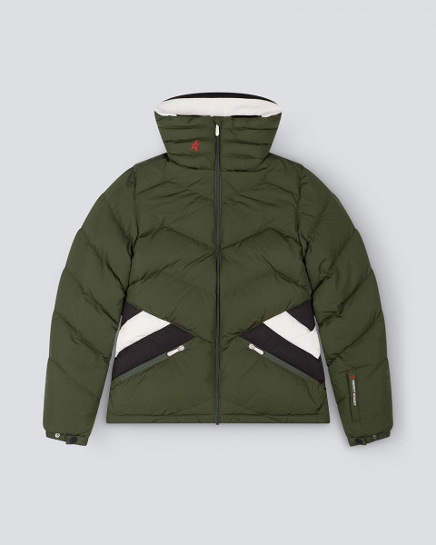 WOMENS APRES DUVET JACKET DARK GREEN