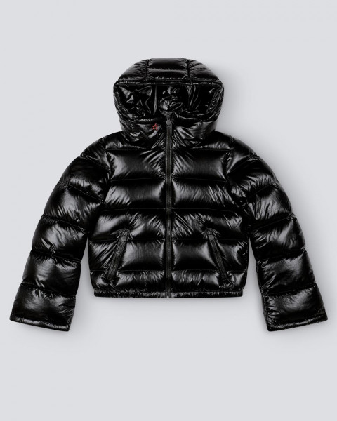 WOMENS POLAR FLARE JACKET BLACK FOIL