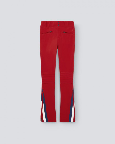 Womens Chevron Flare Pant Red