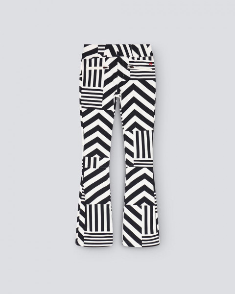 WOMENS STAR DAZZLE FLARE PANT BLACK/WHITE