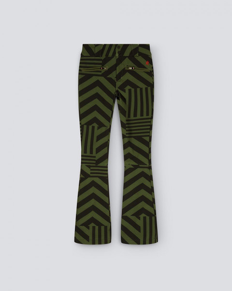 WOMENS STAR DAZZLE FLARE PANT BLACK/GREEN