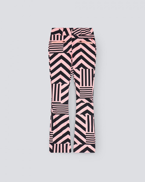 WOMENS STAR DAZZLE FLARE PANT BLACK/PINK
