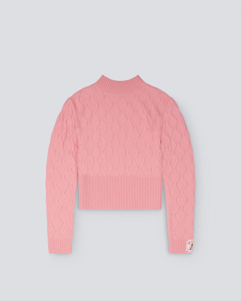 WOMENS CARVING SWEATER PINK