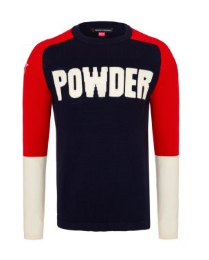 Mens Merino Wool Powder Sweater Navy