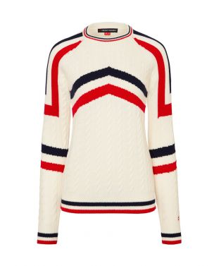 Womens Merino Wool Tignes Sweater Snow White
