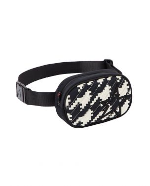 Unisex Star-print Bum Bag Black Houndstooth
