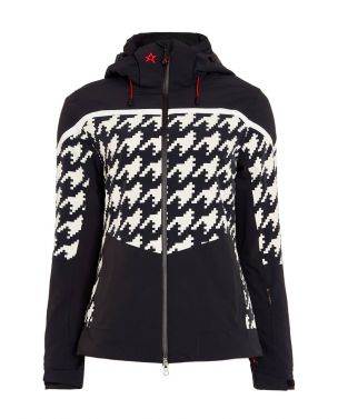 Womens Mountain Mission III Jacket Black Houndstooth