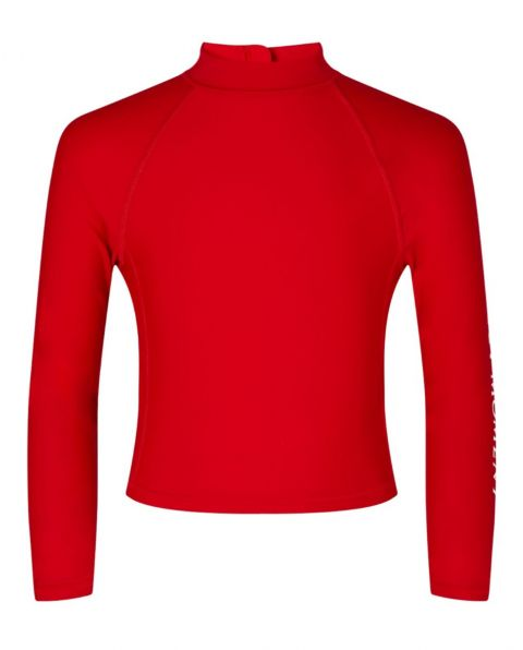 Kids' Long-sleeved Rash Guard Red