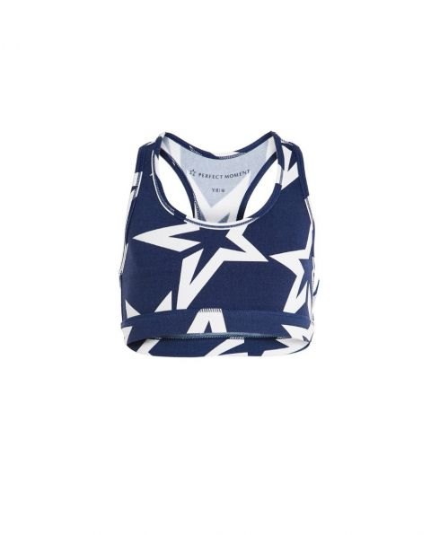 Kids Starlight Racer-Back Sports Bra Navy