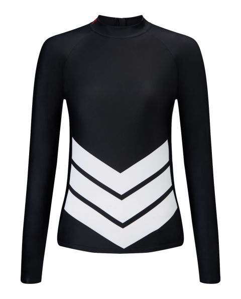 WOMENS CHEVRON LONG SLEEVE RASH GUARD