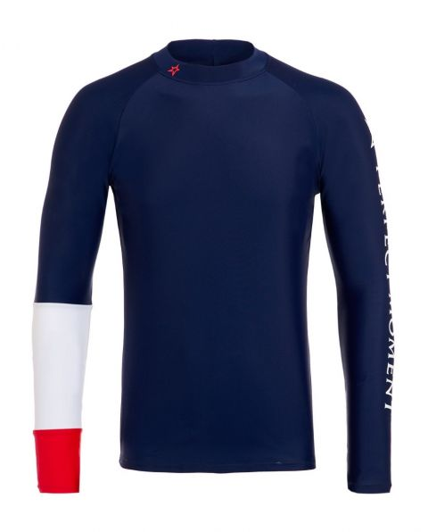 Men's Colour-block Rash Guard Navy