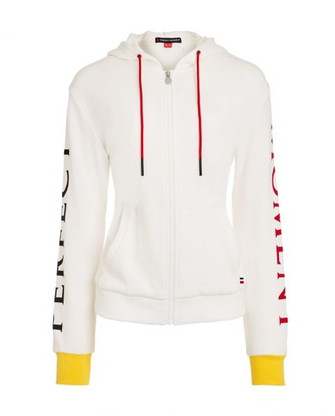 Women's Hooded Cotton-jersey Sweater White