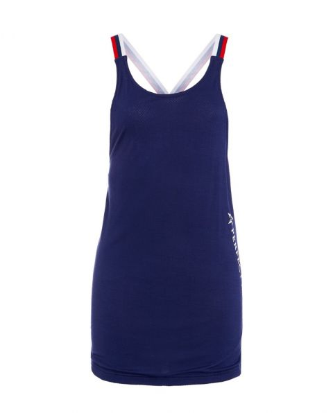 Womens T-Back Bonded Jersey Tank Top Navy
