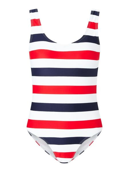 Women's Striped Swimsuit Red