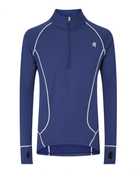 Mens Thermal Half-Zip Sweater Navy