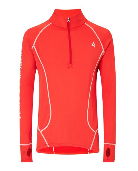 Mens Thermal Half-Zip Sweater Red