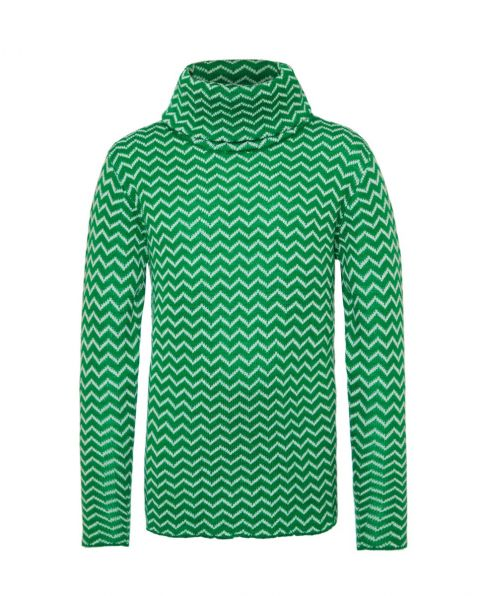 Kids' Zigzag Turtle-Neck Sweater Nordic Green
