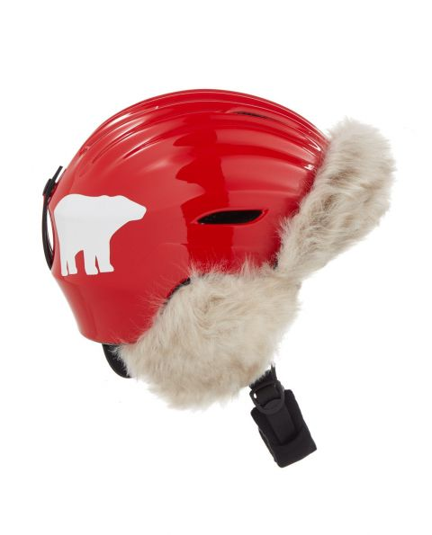 Unisex Polar Bear Helmet Red