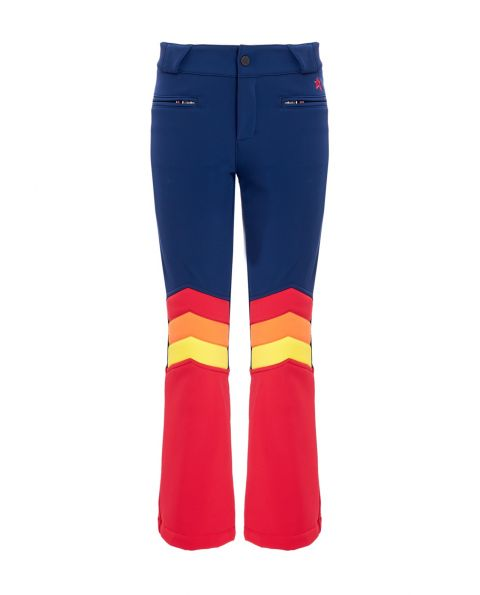 Kids Aurora Flare Ski Pants Navy Red